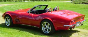 C3 Corvette red